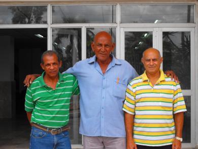 De izquierda a derecha: Fermín espinosa, Miguel Cuevas y Osvaldo Sotomayor